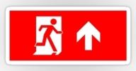 Running Man Exit Sign Sticker Decals 116