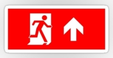 Running Man Exit Sign Sticker Decals 116