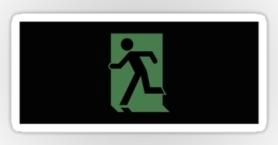 Running Man Exit Sign Sticker Decals 117