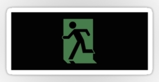 Running Man Exit Sign Sticker Decals 117