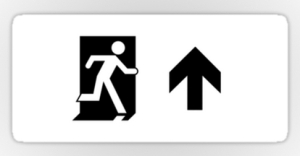 Running Man Exit Sign Sticker Decals 118