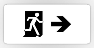 Running Man Exit Sign Sticker Decals 119