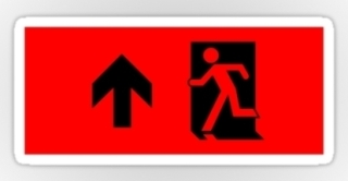 Running Man Exit Sign Sticker Decals 12