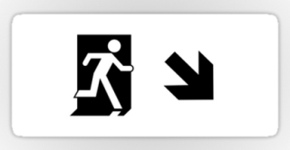 Running Man Exit Sign Sticker Decals 121