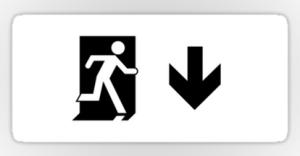 Running Man Exit Sign Sticker Decals 122