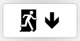 Running Man Exit Sign Sticker Decals 122