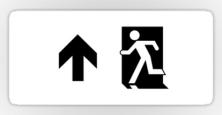 Running Man Exit Sign Sticker Decals 124