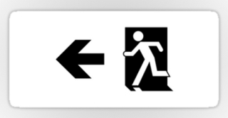 Running Man Exit Sign Sticker Decals 125