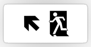 Running Man Exit Sign Sticker Decals 126
