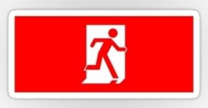 Running Man Exit Sign Sticker Decals 13