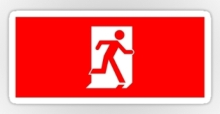 Running Man Exit Sign Sticker Decals 13