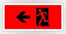 Running Man Exit Sign Sticker Decals 14