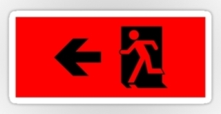 Running Man Exit Sign Sticker Decals 14
