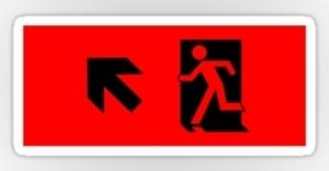 Running Man Exit Sign Sticker Decals 15