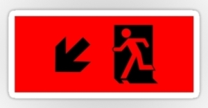 Running Man Exit Sign Sticker Decals 16