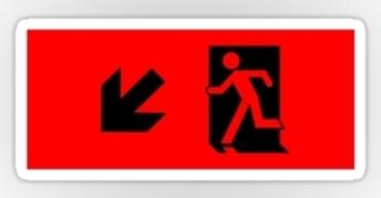 Running Man Exit Sign Sticker Decals 16
