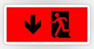 Running Man Exit Sign Sticker Decals 17