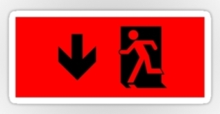 Running Man Exit Sign Sticker Decals 17