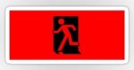 Running Man Exit Sign Sticker Decals 18