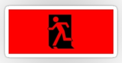 Running Man Exit Sign Sticker Decals 18