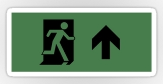 Running Man Exit Sign Sticker Decals 19