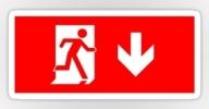 Running Man Exit Sign Sticker Decals 2