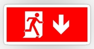 Running Man Exit Sign Sticker Decals 2