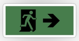 Running Man Exit Sign Sticker Decals 20