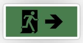 Running Man Exit Sign Sticker Decals 20