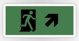 Running Man Exit Sign Sticker Decals 21