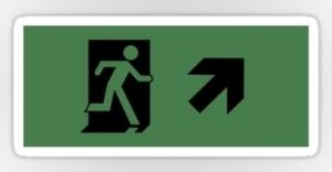Running Man Exit Sign Sticker Decals 21