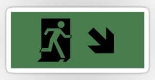 Running Man Exit Sign Sticker Decals 22