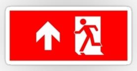 Running Man Exit Sign Sticker Decals 23