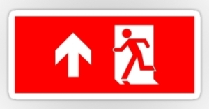 Running Man Exit Sign Sticker Decals 23
