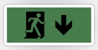 Running Man Exit Sign Sticker Decals 24