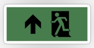 Running Man Exit Sign Sticker Decals 25