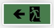 Running Man Exit Sign Sticker Decals 26