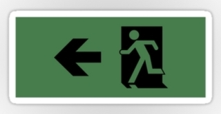 Running Man Exit Sign Sticker Decals 26