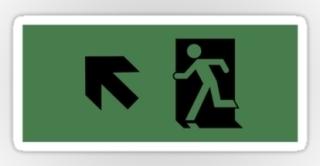 Running Man Exit Sign Sticker Decals 27