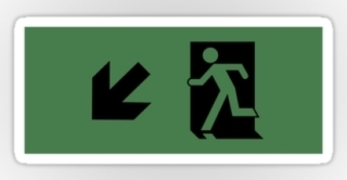 Running Man Exit Sign Sticker Decals 28