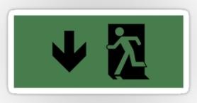 Running Man Exit Sign Sticker Decals 29