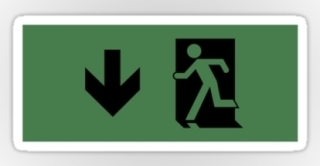 Running Man Exit Sign Sticker Decals 29