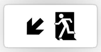 Running Man Exit Sign Sticker Decals 3