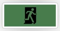 Running Man Exit Sign Sticker Decals 30