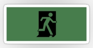 Running Man Exit Sign Sticker Decals 30