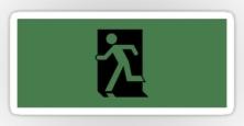 Running Man Exit Sign Sticker Decals 31