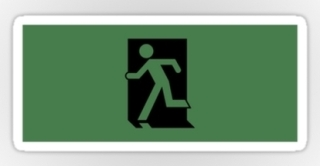 Running Man Exit Sign Sticker Decals 31