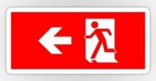 Running Man Exit Sign Sticker Decals 32