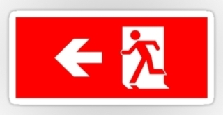Running Man Exit Sign Sticker Decals 32