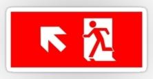 Running Man Exit Sign Sticker Decals 33